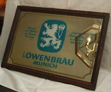 Vintage Lowenbrau Munich Mirror Beer Sign
