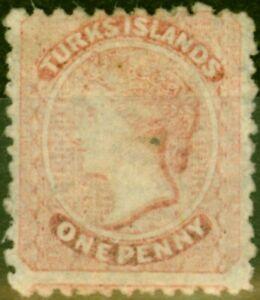 Turks Islands 1867 1d Dull Rose SG51 Good Unused
