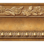 Flower Molding Peel and Stick Wall Border Easy to Apply (Gold Gold/Brown