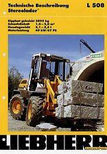 LIEBHERR L 508 prospectus 3/02 2002 Stéréo Chargeur reconfigurable brochure Glisseur