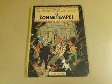 STRIP 1° DRUK HARDCOVER UIT 1949 / KUIFJE - DE ZONNETEMPEL