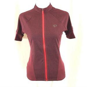 Pearl Izumi Womens Select Escape Jersey Short Sleeve Full Zip Burgundy Size XS