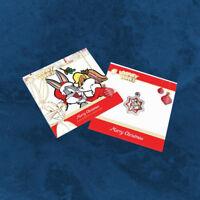 Tuvalu - Looney Tunes Christmas - 1 $ 2018 PP Silber Weihnachten Stern
