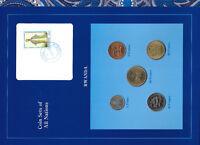 Coin Sets of All Nations Rwanda UNC 1977-1987 50,20 Francs 1977 1,10 Francs 1985