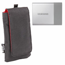 Custom Hardwearing Water Resistant Case in Black for Samsung Portable SSD T3 HDD