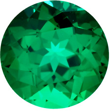 Real Russian Synthetic Lab Emerald AAAA Round Loose Gemstone (2mm - 8mm)