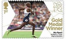 UK Team GB Gold Medal Winner Single Stamp Mo Farah Men's 5000m MNH 2012