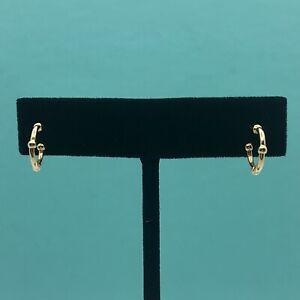 Tiffany & Co. 18K Yellow Gold Bead Hoop Earrings
