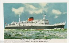 M.V. Belfast Queen, Belfast Steamship Co. Ltd. Shipping Postcard, B541