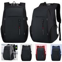 Anti-theft Men USB Charging Business Backpack Laptop Notebook Travel School Bag