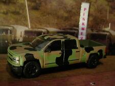 US ARMY Greenlight 2015 CHEVY SILVERADO✰camo;Green truck✰Loose✰2016 Motor World