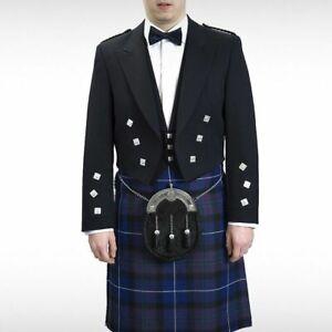 """New Scottish Prince Charlie Kilt Jacket With Waistcoat/Vest - Sizes 36""""- 54"""""""
