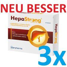 3x HepaStrong = 120 Tabletten Leberschutz -Entgiftung der Leber Pharma-Qualität