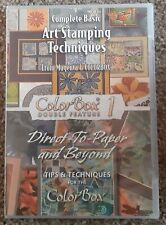 Clearsnap COLORBOX DOUBE FEATURE 1 Complete Basic ART STAMPING TECHNIQUES DVD