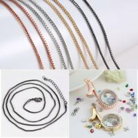 Fashion Unisex Chain For Living Memory Glass Locket Pendant Necklace Jewelry Hot