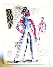 ORIG. 1976 ALFRE WOODARD COSTUME DESIGN FOR MARK TAPER FORUM  BY CHAS. BERLINER