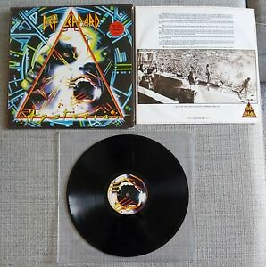 DEF LEPPARD - HYSTERIA - UK ISSUE LP ON BLUDGEON/RIFFOLA RECORDS - 1987 - VGC