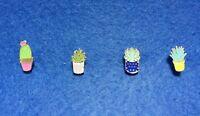 Cacti Succulent Lapel Pin Brooch Agave Aloe Echinopsis Lotus Cactus Scarf Gold