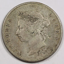 HONG KONG 1891 H 50 Cent Half Dollar VF/XF KM# 9.2 Queen Victoria Scarce