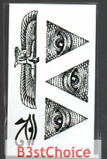 Small Fresh mistory eyes egypt Temporary Tattoo Stickers Body Art