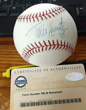 Minnesota Twins Torii Hunter  autographed ML baseball Steiner certified