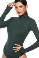 Women Knitted Long Sleeve Jumpsuit Romper Leotard Bodysuit Tops Sweater Clubwear