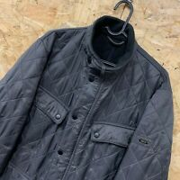 MENS BARBOUR INTERNATIONAL ARIEL POLARQUILT JACKET SIZE M CHARCOAL GREY