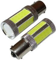 2x ampoules P21W 1156 BA15S 12V/24V 4 LED COB SMD + HIGH POWER 1.5W blanc