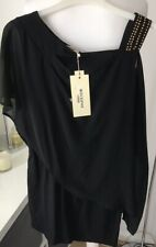 Miss Sophie Black Tunic Top Size S/M NWTS