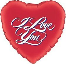 I LOVE YOU, VALENTINES DAY, WEDDING, HEART -  45cm FOIL BALLOON - RED