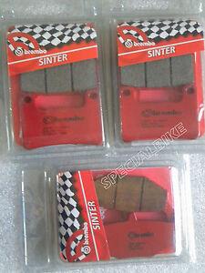 SUZUKI GSXR 1000 2009 / 2011 K9  KIT PASTICCHE FRENO ANT POST BREMBO BRAKE PADS