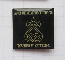 Janet Jackson/Velvet robe Tour 98/TDK... música-pin (153a)