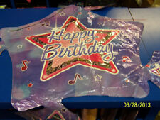 """Rock Star Cluster Birthday Party Decoration Foil 32"""" Shaped Mylar Balloon"""