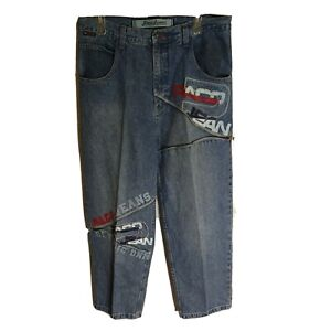 Paco Jeans Vintage Baggy Wide Leg Jeans HIP HOP Skate Grunge 36 x 28 Spell Out