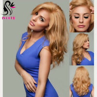 Golded Blonde Human Hair Wig Wavy 100% European Virgin Body Wave Lace Front Wigs