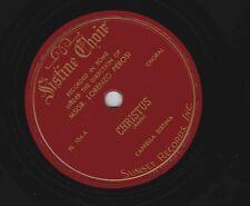Sistine Chapel Choir, Don Lorenzo Perosi on 78 rpm Sunset 104
