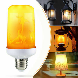 4 Modes E27 LED Flicker Flame Light Bulb Simulated Nature Fire Effect Party Lamp
