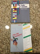 A Beka Spanish Textbook 1A & Vocabulary Manual 2  By Steven A. Guemann