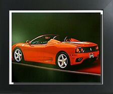 Red Ferrari 360 Modena Spider Sports Car Contemporary Black Framed Art Picture