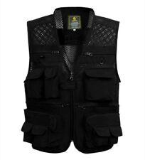Men's Casual Camera Fishing Hunting Multi-Pockets Waistcoat Vests Jacket Army