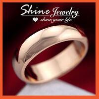 18K Plain Gold GF 7mm Comfort Band Solid Mens Womens Eternity Wedding Ring Gift