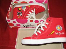 Minnie Mouse- High Top - Converse style sneakers,Red, NIB.
