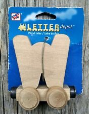 Wooden Toy Train Car Letter W Thomas Brio Compatible New Letter Depot