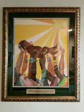 ORIGINAL ART  IT TAKES AN ENTIRE VILLAGE TO RAISE A CHILD SIGNED FRAMED 30X40