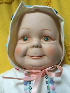 """Vintage 3 Face Doll Porcelain 20"""""""