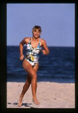 Steffi Graf Tennis Legend barefoot in swimsuit pin up Original 35mm Transparency