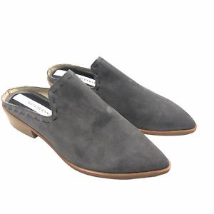Matt Bernson Inspo Suede Loafer Mules, Women's Size 7, Slate