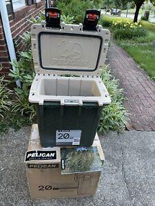 Pelican 20 Quart 20Q-1-ODTAN (Dark Green) color cooler