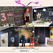 Large Blackboard Greenboard 60 x 200cm Removable Wall Sticker Chalkboard Decal