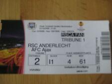 Ticket: Anderlecht - Ajax Amsterdam UEFA (1-10-09)